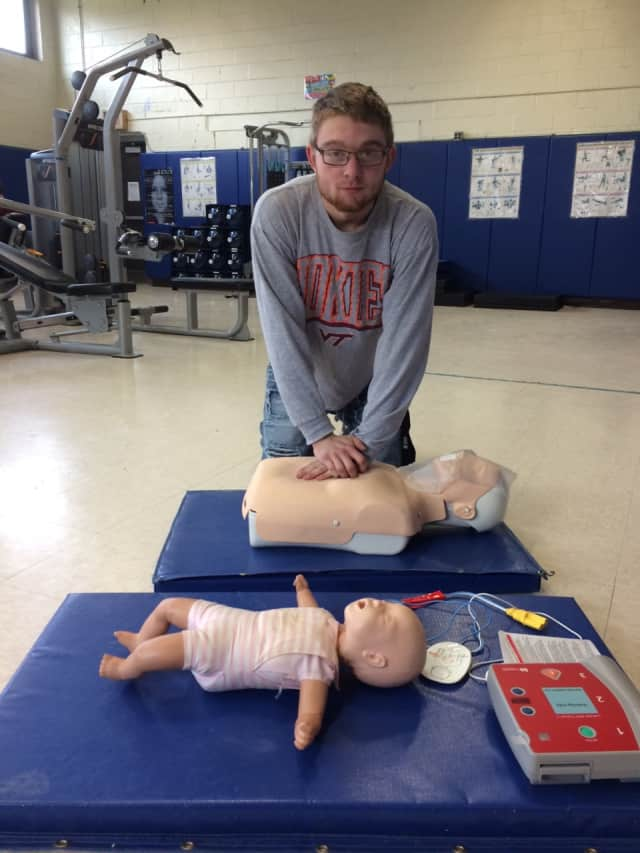 Several students in Scarsdale have completed training in CPR and AED by the American Heart Association.