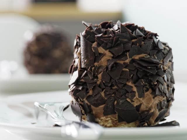 Waldwick High School WEF lets buyers sample chocolates before holiday sale.