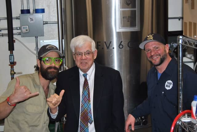 From left, Jamie Bishop, Vance Gage and Larry Stock; Mill House Brewing Company