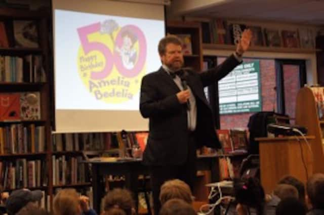 Author Herman Parish will visit County Road School on Thursday, March 3.