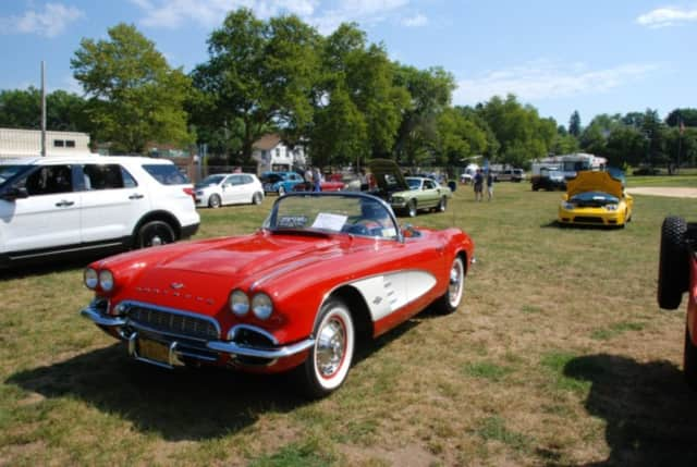 A classic Corvette was one of the cars on display at the show.