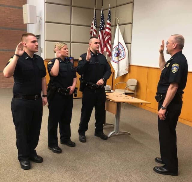 Deputies Collier and Burke and CO Martin were welcomed to the Putnam County Sheriff's Department at a Swearing In ceremony attended by family members.