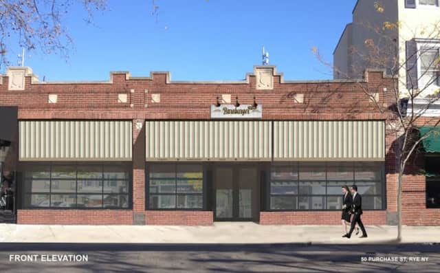 An artists rendering of Bareburger, which is opening in August.