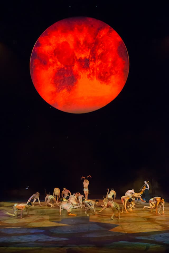 """A scene from """"One Night for One Drop, Imagined by Cirque du Soleil,"""" airing 8 p.m. Saturday, March 16 on CBS. Photograph by Erik Kabik."""
