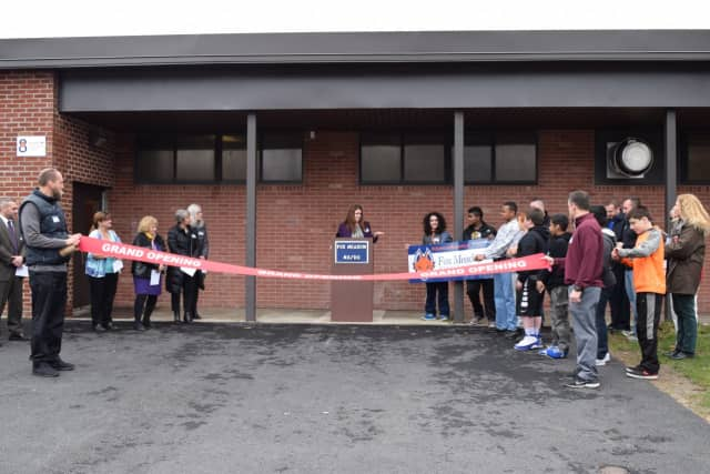 Fox Meadow Middle School celebrated the opening of its new space with a ribbon cutting