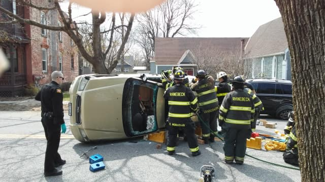 The crash occurred on East Market Street near Violet Hill Road in the Village of Rhinebeck.