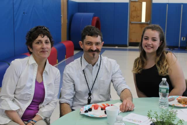 Carmel student Chloe Blaney with her Walden School mentors Jesse Steiner and Debbie Canzio