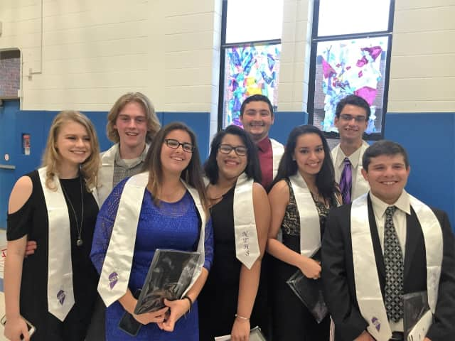 Students were recently inducted into the National Technical Honor Society.