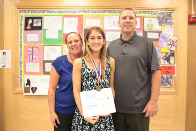 Yorktown Senior Morgan Forde was honored as a BOCES Student of Distinction on June 6. She was accompanied to the award ceremony by her mother and father, Casey and Sean Forde, and grandmother, Mary Ellen Cowan (not pictured).