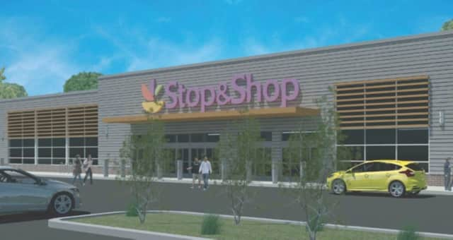 A rendering that shows the proposed redevelopment of the Lake Plaza Shopping Center in Mahopac. Stop & Shop is proposed to be a major tenant.