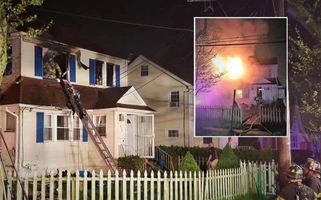 No injuries were reported in the two-alarm Beverly Road blaze in Teaneck, which broke out around 10:30 p.m. Friday.