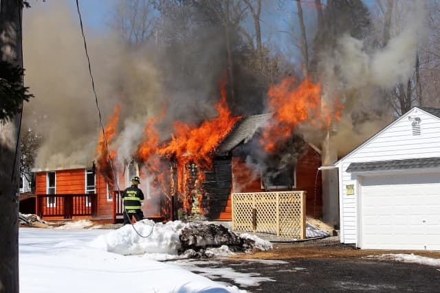 A raging fire gutted a Mahopac home.