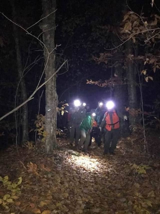 It took some 17 forest rangers to retrieve the body of a missing hiker.
