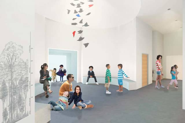 A rendering of the Bruce Museum's new Education Wing. Courtesy the Bruce Museum.