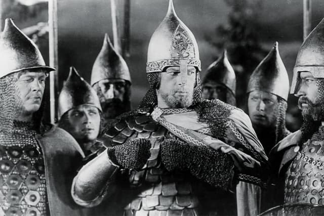 """""""Alexander Nevsky"""" is among the films being shown at the Jacob Burns Film Center as part of """"Caramoor at the Burns:  Movies Musicians Love."""" Courtesy Janus Films."""