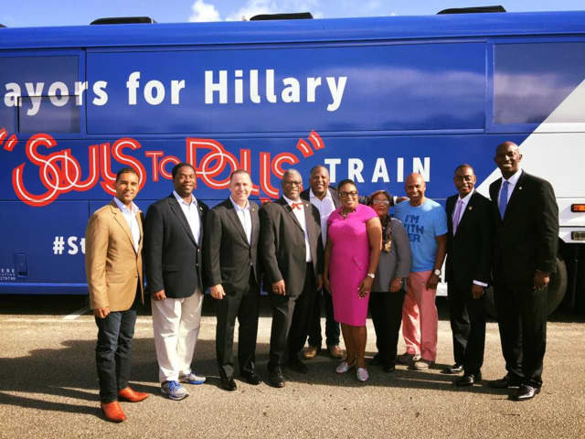 """Mount Vernon Mayor Richard Thomas was one of several """"Mayors for Hillary"""" who hit the campaign trail for Democratic presidential hopeful Hillary Clinton."""