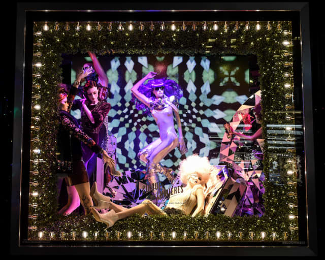 """Mosaic artist Allison Eden has created two holiday windows for Bloomingdale's 59th Street in Manhattan. Catch the """"Greatest Holiday Windows"""" throughout the season. BFA/Joe Schildhorn photograph. Courtesy Bloomingdale's."""