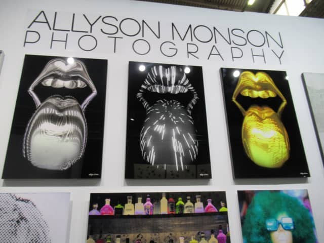 The booth of Redding-based Allyson Monson Photography made a bold statement at the Architectural Digest Design Show in Manhattan. Photograph by Mary Shustack.