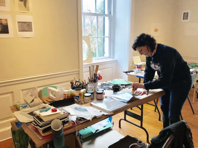 Austin Thomas, a 2018 Winter Workspace artist at Wave Hill. Courtesy Wave Hill.