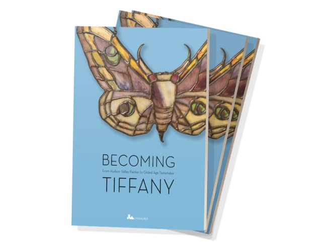"""The exhibition catalog for """"Becoming Tiffany: From Hudson Valley Painter to Gilded Age Tastemaker"""" is now available. The exhibition of the same name continues through Sept. 24 at Lyndhurst in Tarrytown. Courtesy Lyndhurst."""