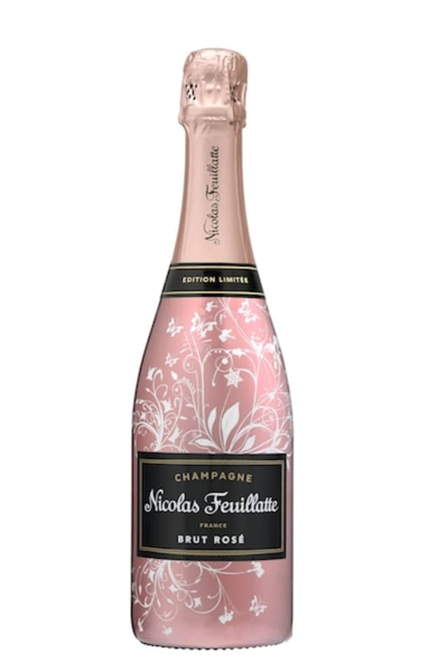 Champagne Nicolas Feuillatte has released a Limited-Edition Enchanted Vine Rosé bottle. Courtesy Champagne Nicolas Feuillatte.