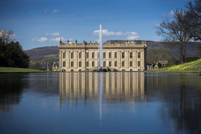 """Treasures from Chatsworth: The Exhibition,"" which continues through Sept. 13 at Sotheby's in Manhattan, offers the chance to tour some 500 years of history related to the historic Chatsworth House in England, pictured here. © Chatsworth House Trust."