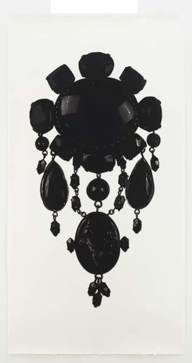 """""""Outrageous Ornament: Extreme Jewelry in the 21st Century"""" opens Oct. 21 at the Katonah Museum of Art and will feature Jonathan Wahl's """"Teutoburg Brooch,"""" 2010. Charcoal on paper. 72.00 x 48.00 inches. Courtesy of the artist. © Jonathan Wahl. Courtesy Katonah Museum of Art."""