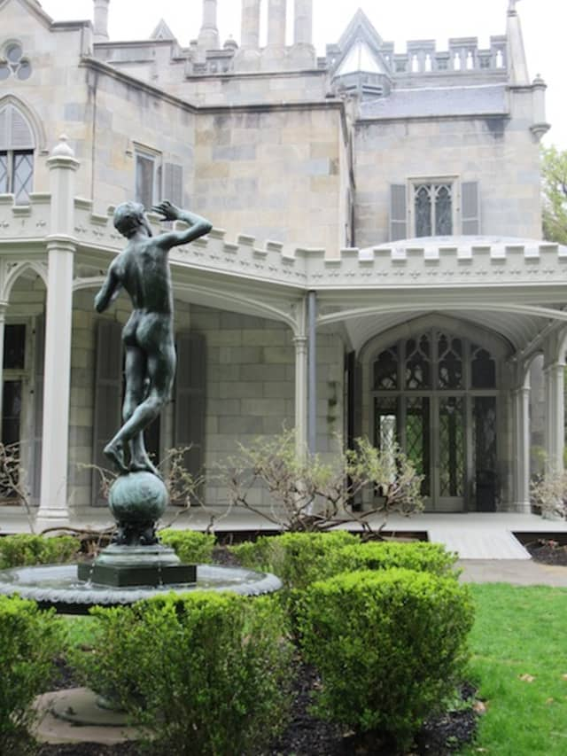 """Lyndhurst, a site of the National Trust for Historic Preservation, again proved an ideal setting for the fourth annual """"Mansions of the Gilded Age"""" Symposium, held April 28 in Tarrytown. Photograph by Mary Shustack."""