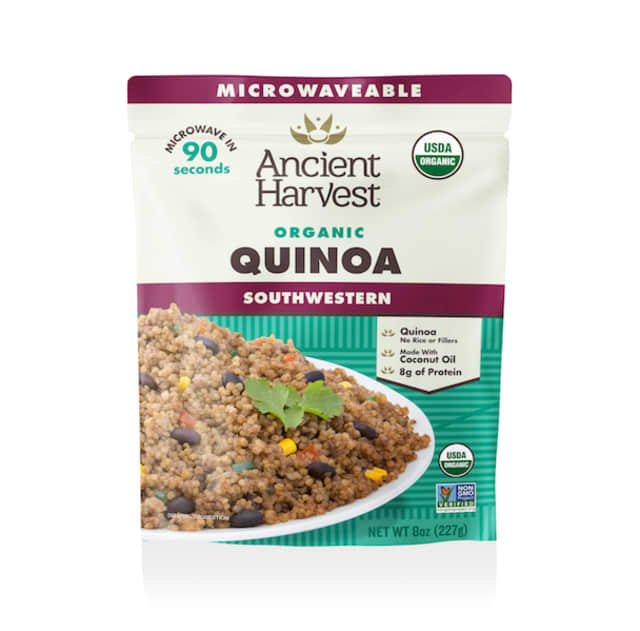 Ancient Harvest offers a selection of ready-to-eat quinoa. Courtesy Ancient Harvest.