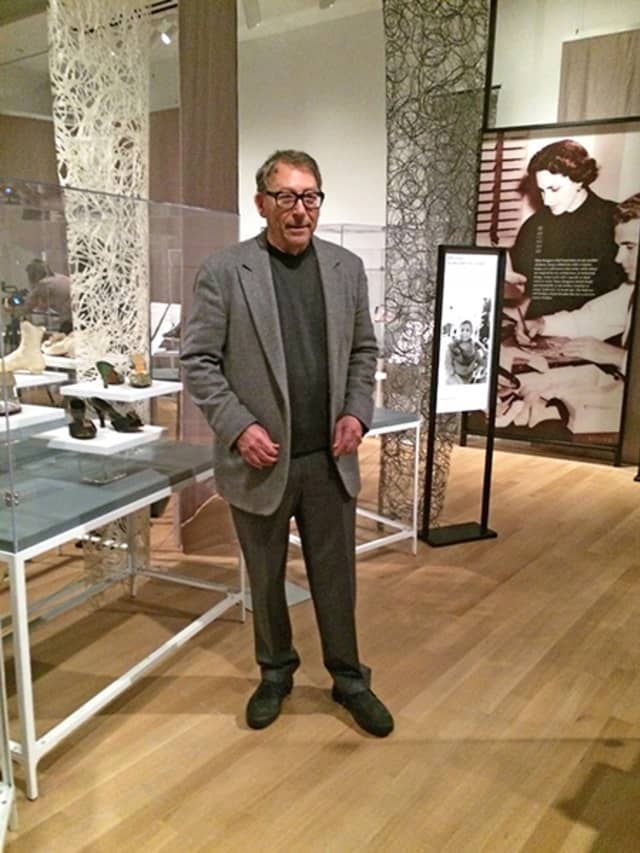 """Stuart Weitzman, iconic shoe designer, Greenwich resident and former WAG cover subject, led an April 12 press-preview tour of """"Walk This Way: Footwear from the Stuart Weitzman Collection of Historic Shoes."""" The exhibition opens April 20 at the New-York Historical Society Museum & Library in Manhattan. Photograph by Mary Shustack."""