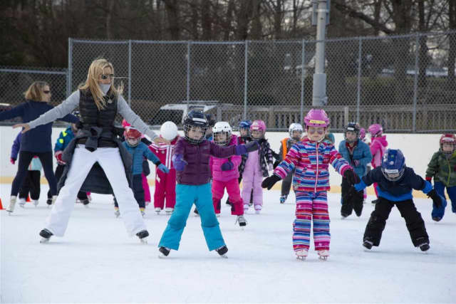 New Canaan Country School kindergarten students took to the ice Monday, Dec. 3 for their first learn to skate class of the season.