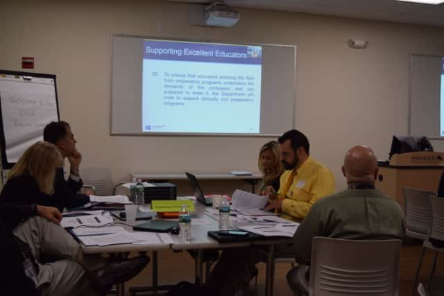 Educators gather to discuss federal education guidelines at BOCES in Yorktown.