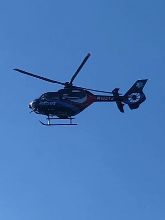 JeffStat Critical Care Transport airlifted at least one victim to a nearby hospital with serious injuries.