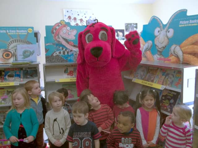 Clifford the Big Red Dog will be on hand at the Book Fair and Pancake Breakfast.