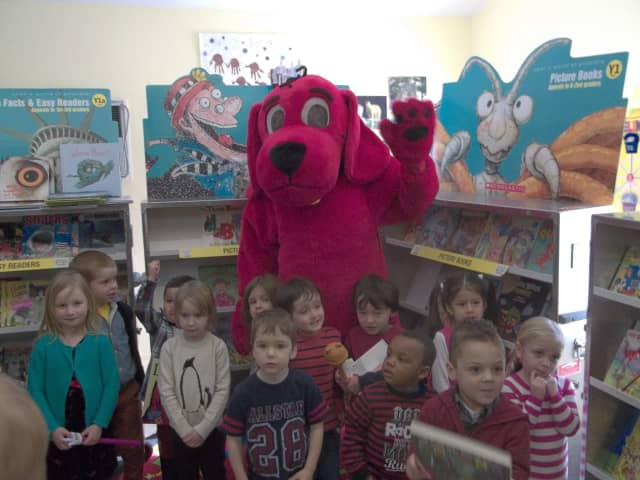 Clifford the Big Red Dog will be on hand for Country Children's Center's annual Scholastic Book Fair and Pancake Breakfast.