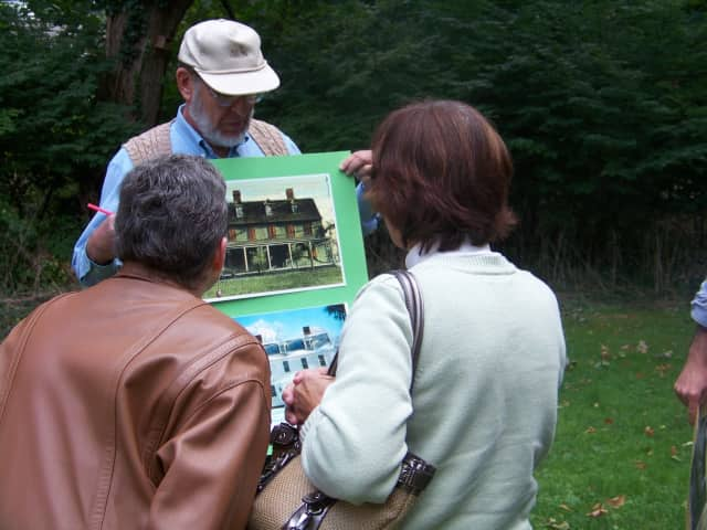 Visitors hear about the Fairfield Museum & History Center from a volunteer. Teens and adult docents are needed and may sign up now for a docent training session.
