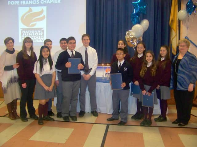 The National Junior Honor Society gained six new members from Paramus' Visitation Academy this year.