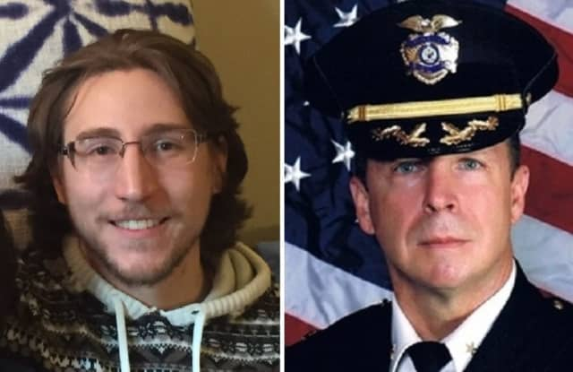 RASE Organizer Nicholas Haas, Ramsey Police Chief Bryan Gurney