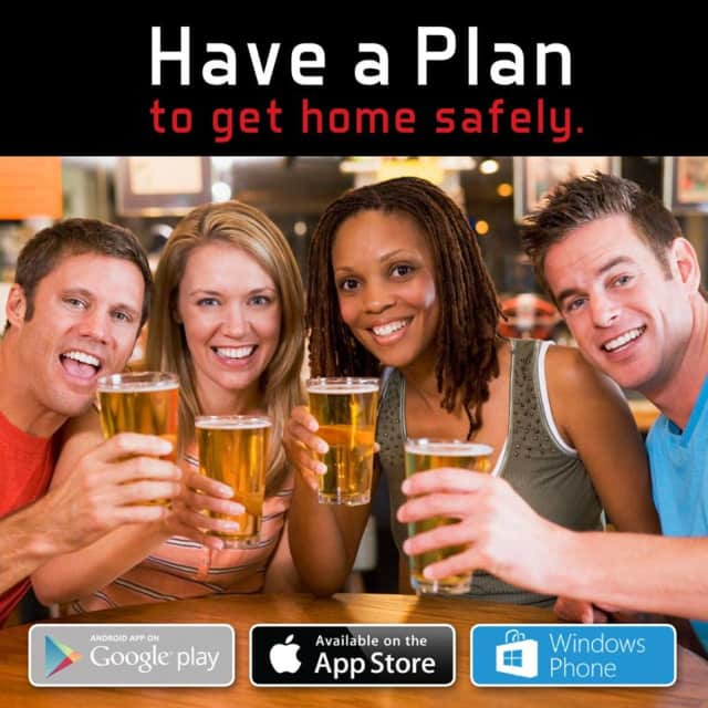 """Residents can download the """"Have a Plan"""" mobile app, available as a free download for smart phones to help find safe rides home."""