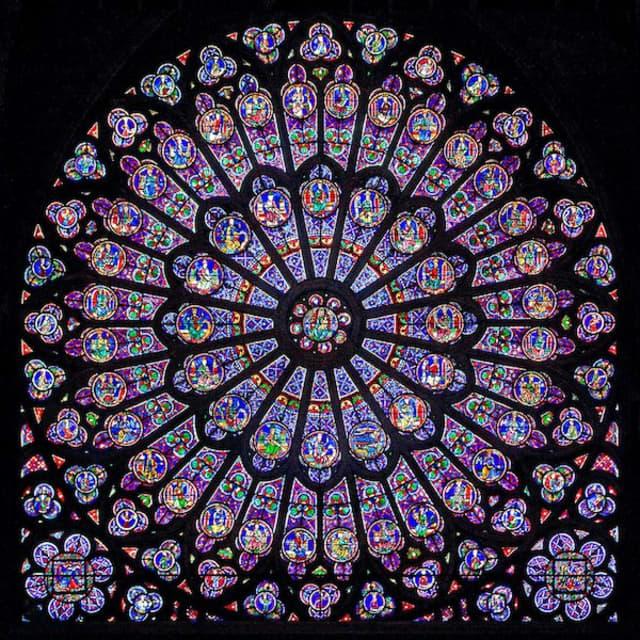 The North Rose Window of Notre Dame de Paris. Photograph by Zachi Evanor.