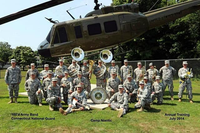 The 102nd Army Band will perform a free concert on Sunday.