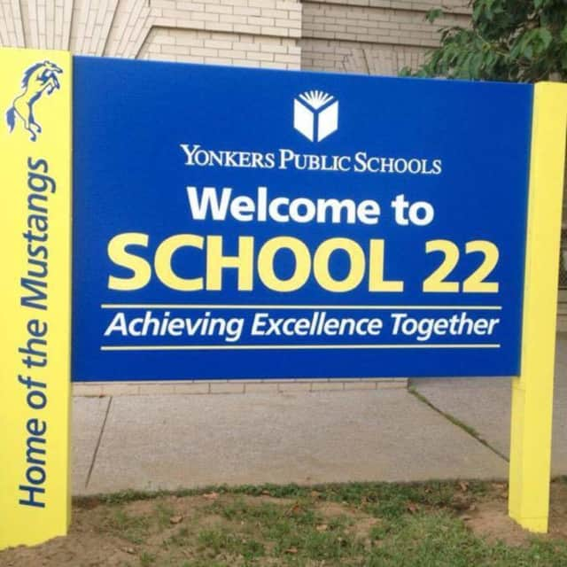 Yonkers School 22 on Nepperhan Avenue was recognized Wednesday as the city's School of the Month.