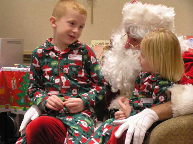 Kids read bedtime stories with Santa last year at the Ringwood Public Library.