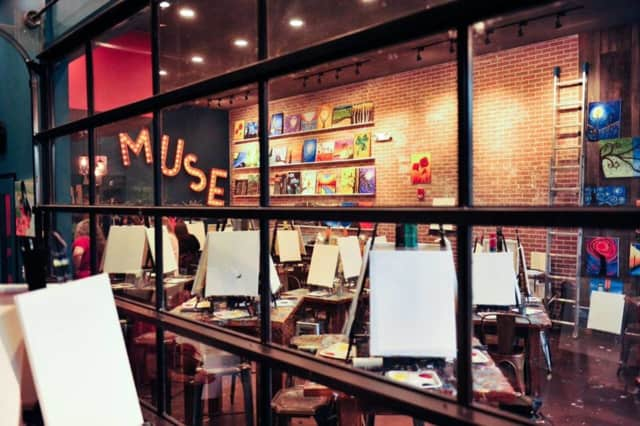Muse Paintbar opened in November in Ridge Hill in Yonkers.