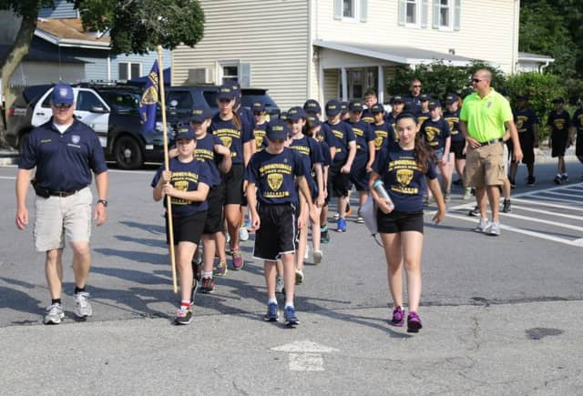 Bloomingdale police take part in a street of the week program to benefit the borough.