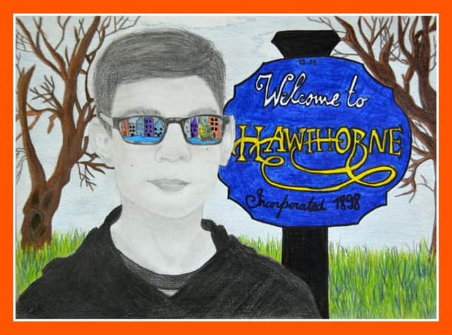 A Hawthorne student's work of art.
