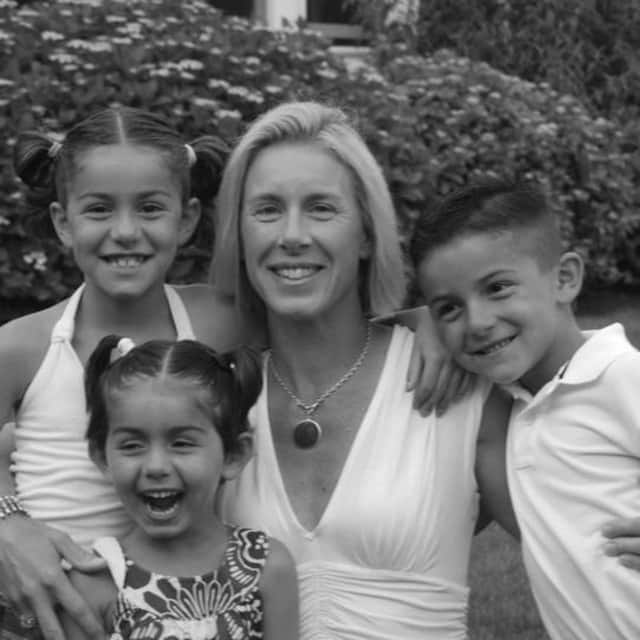 Erin Cacciabaudo with her kids.