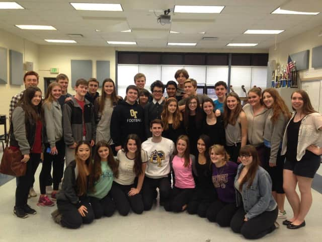 The NV/OT All-School Musical Cast worked with Broadway Star Mike Schwitter, who appeared in Pippin.