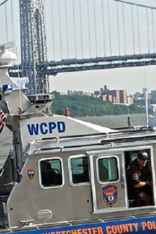 Members of the Westchester County Police Marine Unit, Palisades Interstate Park police and Piermont EMC and firefighters united to rescue the Fort Lee hiker who was trapped on the Palisades above the Hudson River.