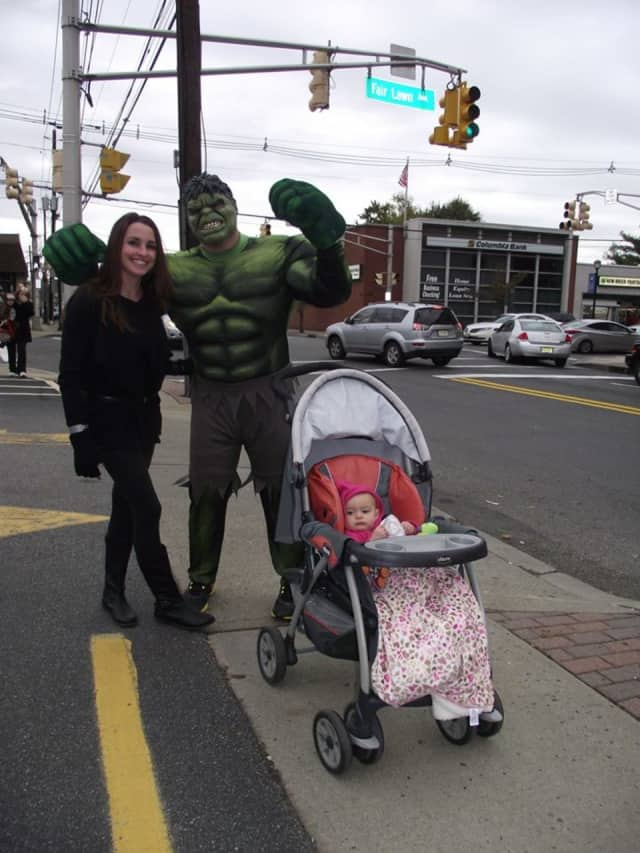 Residents trick-or-treat on River Road last year.